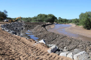 Work on Nogales Wash. Photo Courtesy U.S. Army Corps of Engineers.