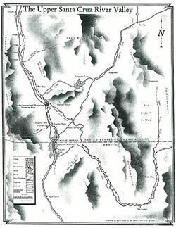 Map of the Santa Cruz River